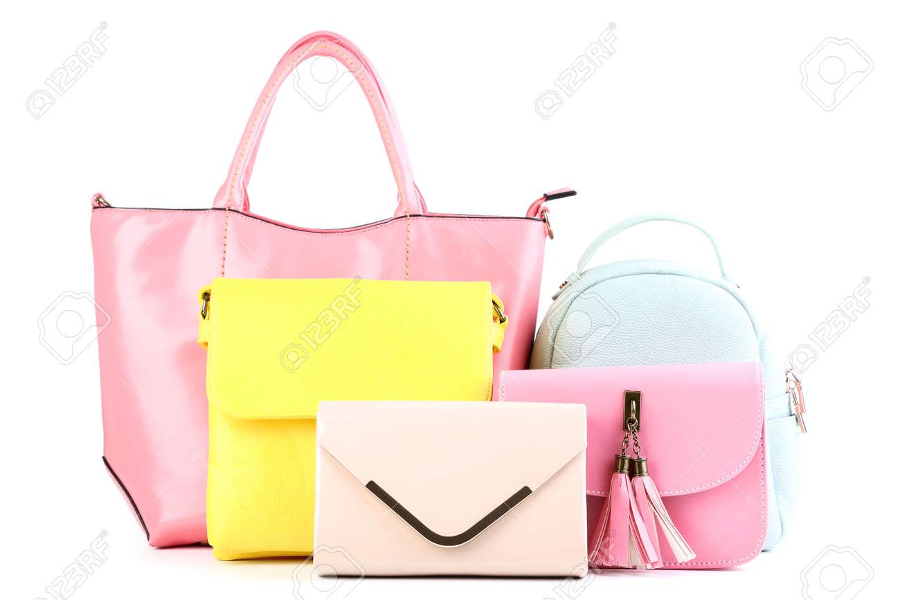 Fashion handbags isolated on white background - 120396334