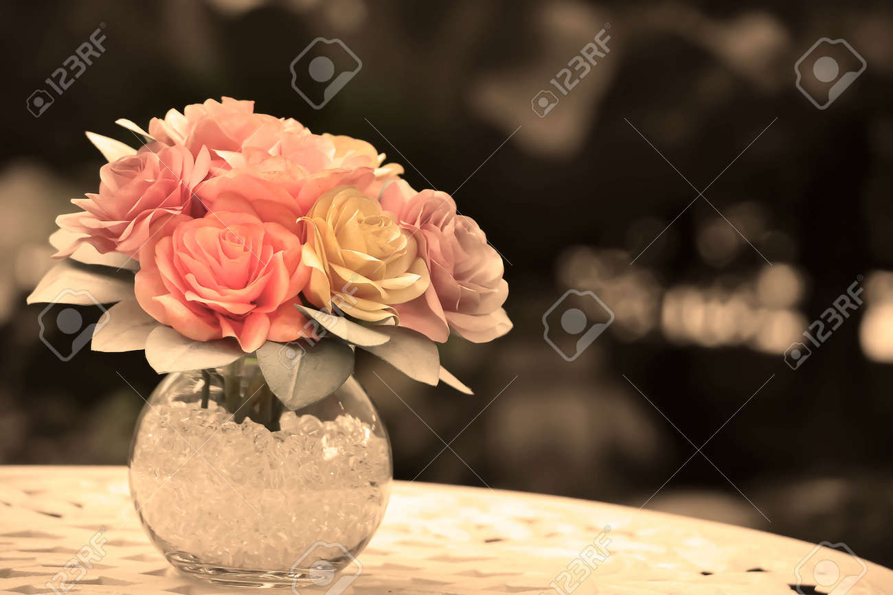 Handmade A Roses Made From Paper Coffee Filter Add A Vase To Stock