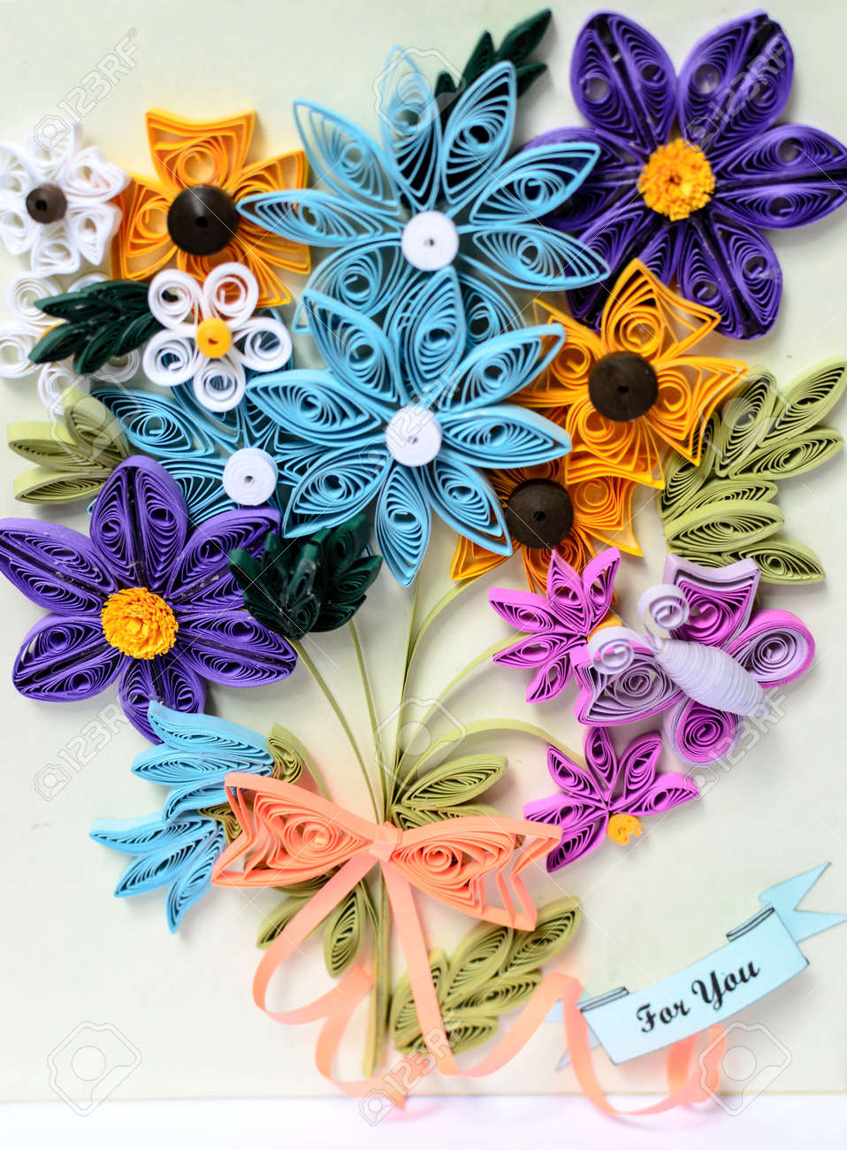A Flowers Made From Paper Stripes Its Name Quilling Paper Stock