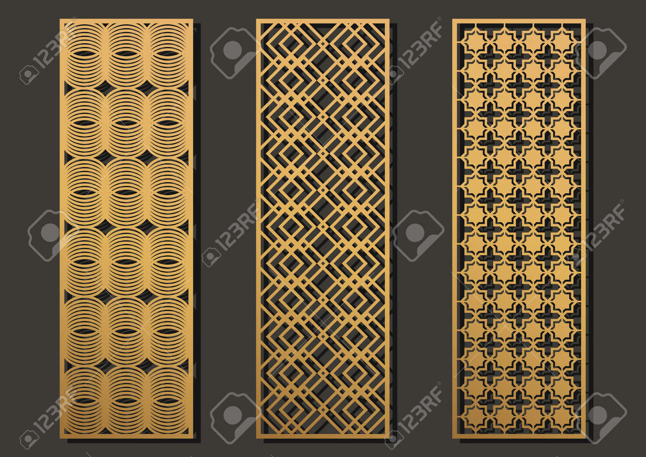 Affordable Laser Cut Template Panels Set Die Geometric Pattern Rectangle Shape For Metal Wooden With Designs Paper
