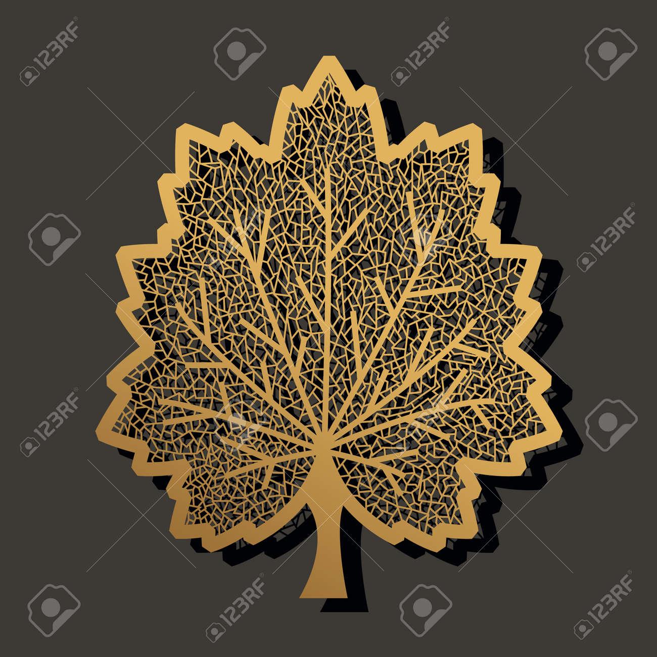 maple leaf laser cut template design for paper metal wooden