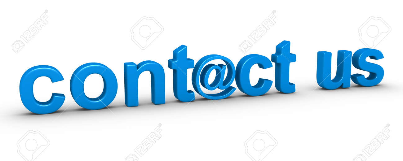 3d Contact Us Word Using E Mail Symbol Stock Photo Picture And