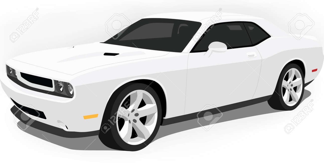 Modern American Muscle Car Royalty Free Cliparts Vectors And Stock