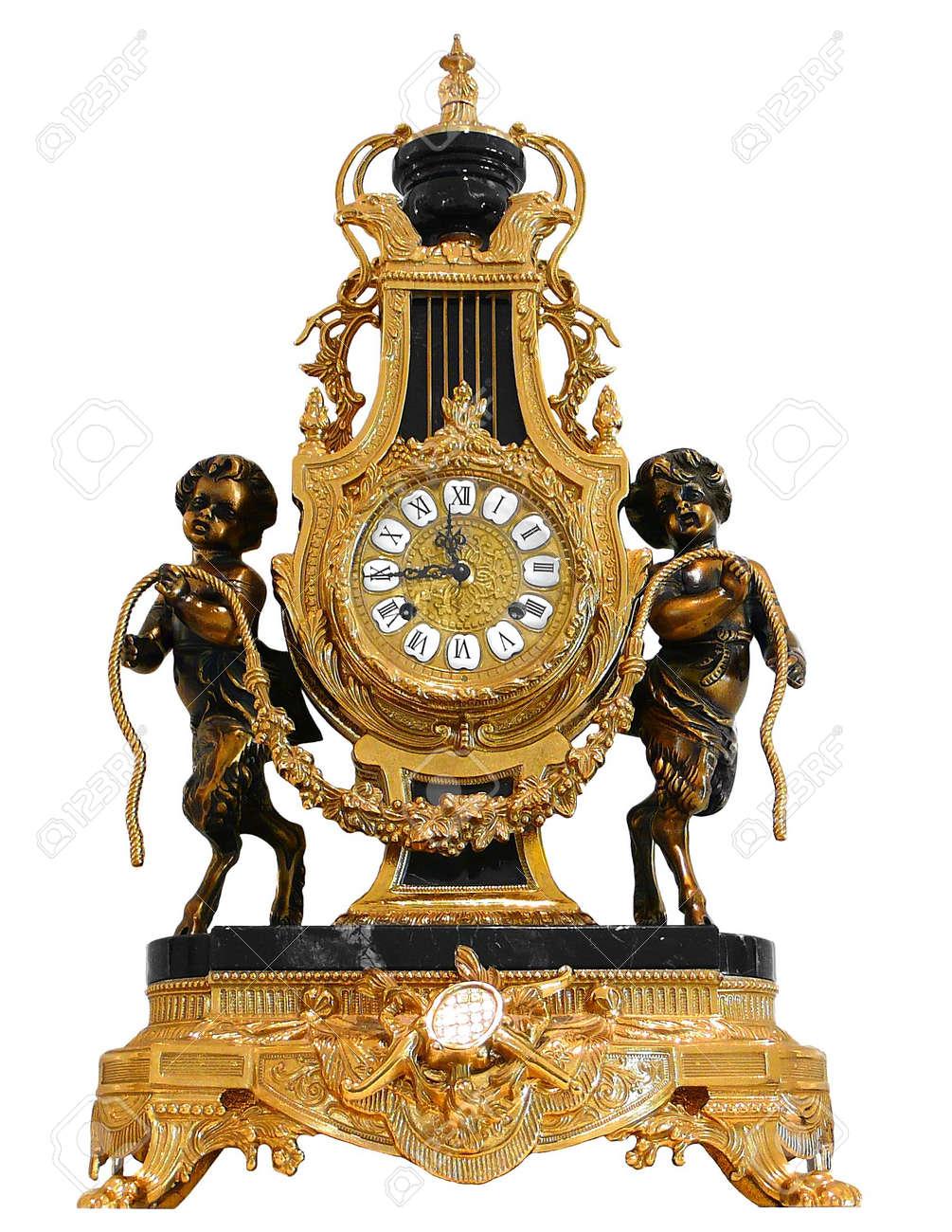 Antique Gold mantle clock Stock Photo - 5562762