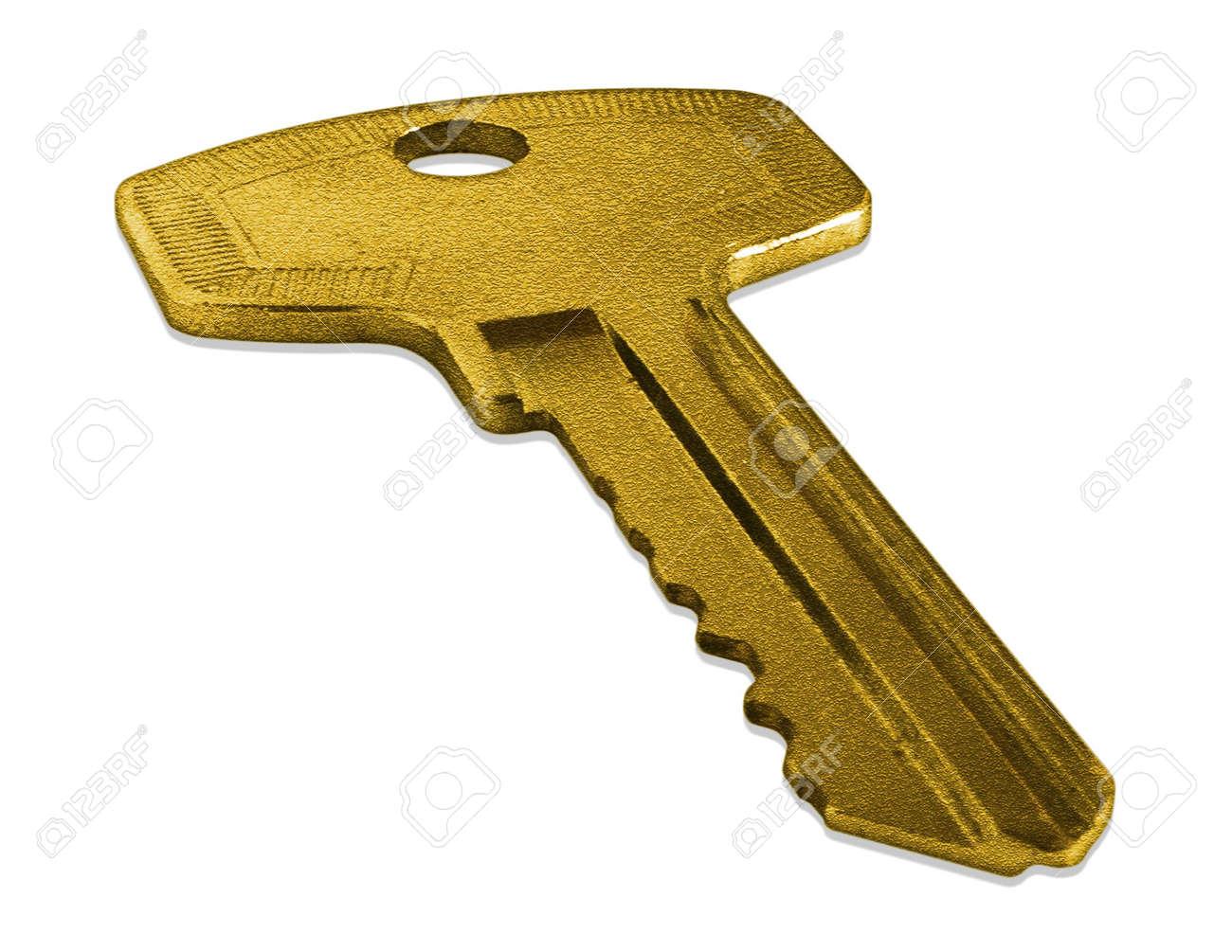 house key. gold house key stock photo 5686415