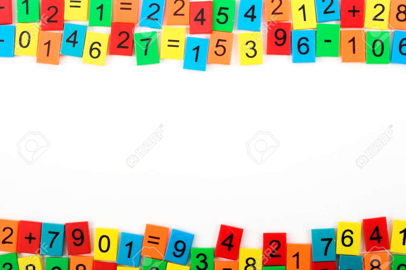 mathematical frame with color numbers stock photo 6906436