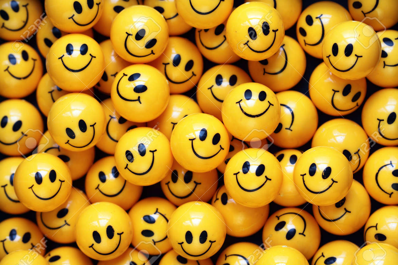 heap of yellow balls with smiley faces stock photo, picture and royalty  free image. image 11051653.  123rf