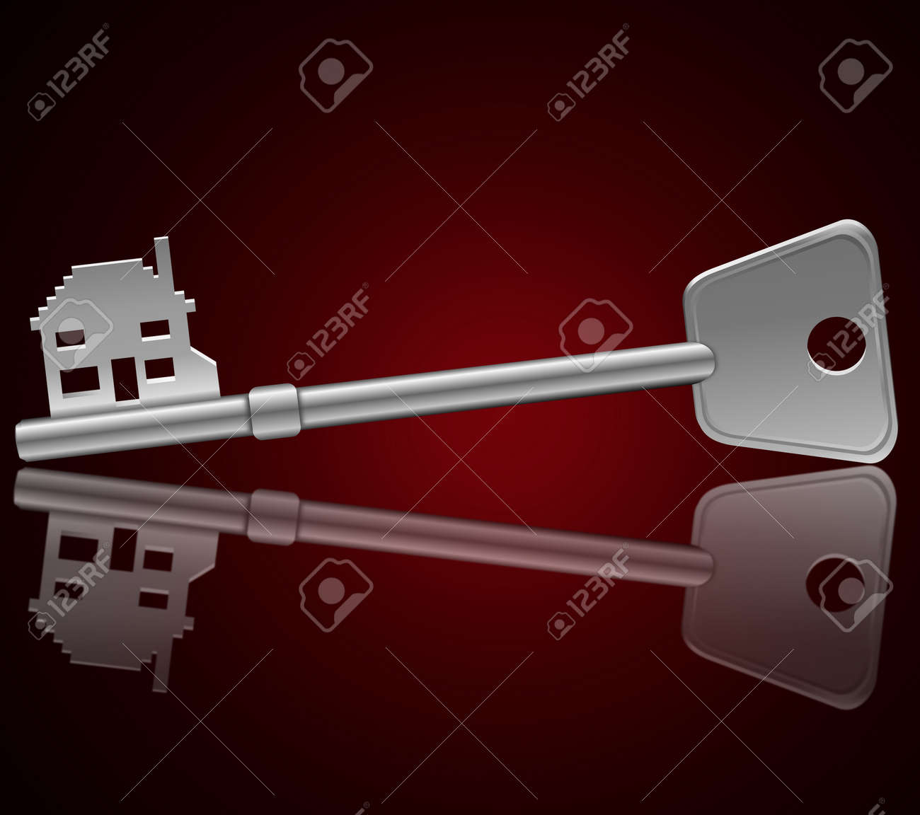 Illustration depicting a single key with a Stock Illustration - 11987316