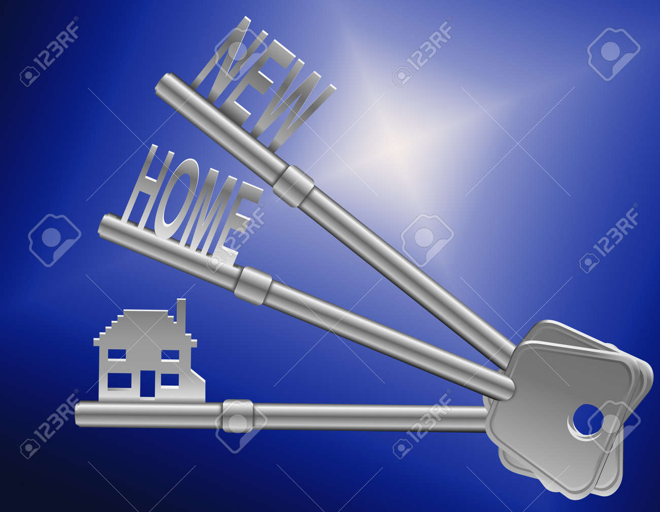 Illustration depicting two keys with a Stock Illustration - 11987326