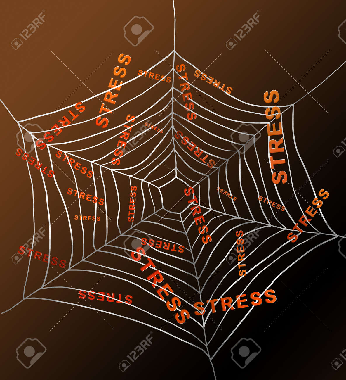 Illustration depicting a spiderweb with the words Stock Illustration - 12208168