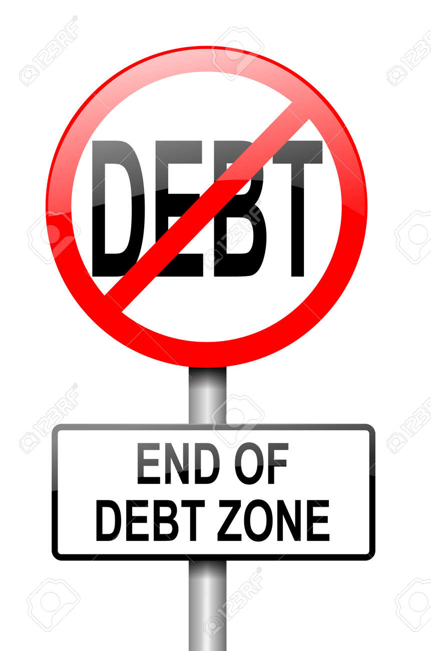Stock illustration 3d red text quot yes quot stock illustration royalty - Illustration Depicting A Red And White Road Sign With A Debt Free Concept White Background