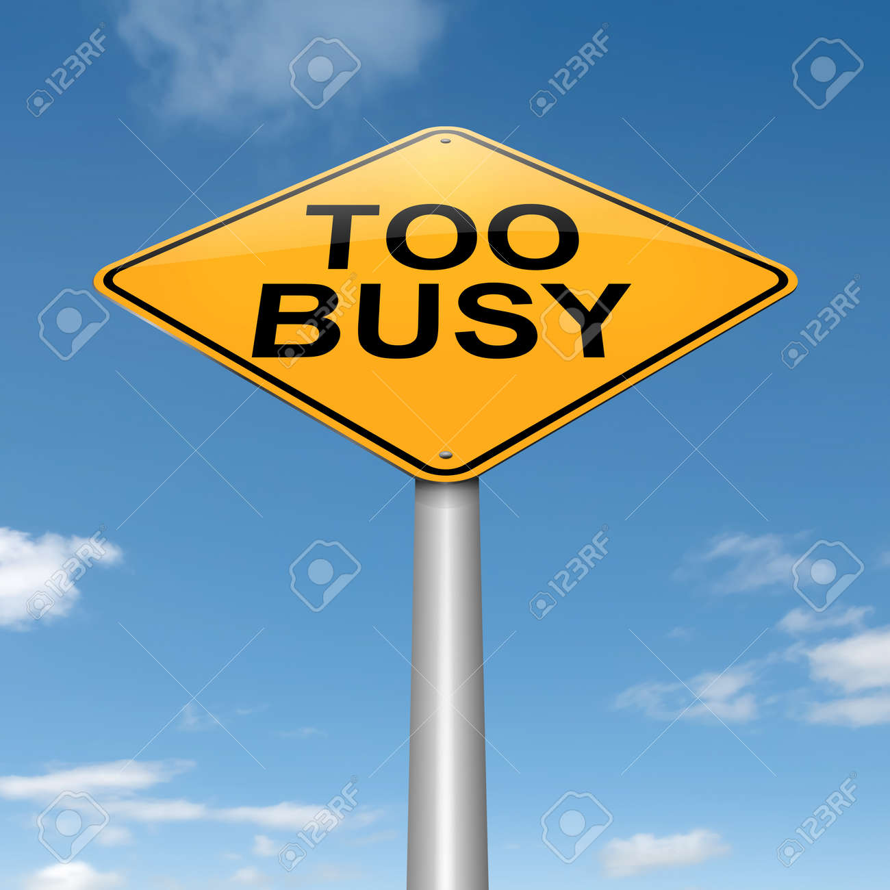 working too much stock photos pictures royalty working too working too much illustration depicting a roadsign a too busy concept sky background