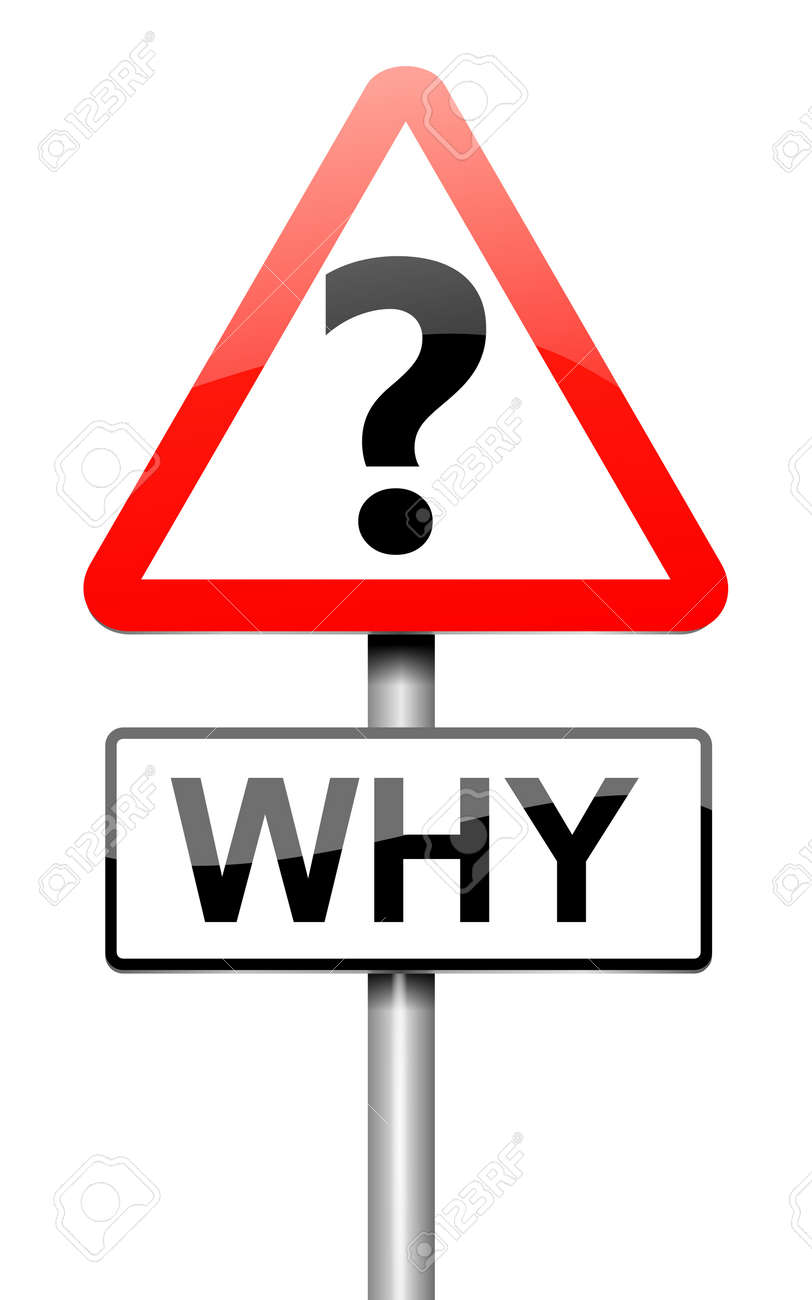 Illustration depicting a roadsign with a why concept. White background. Stock Photo - 16059646