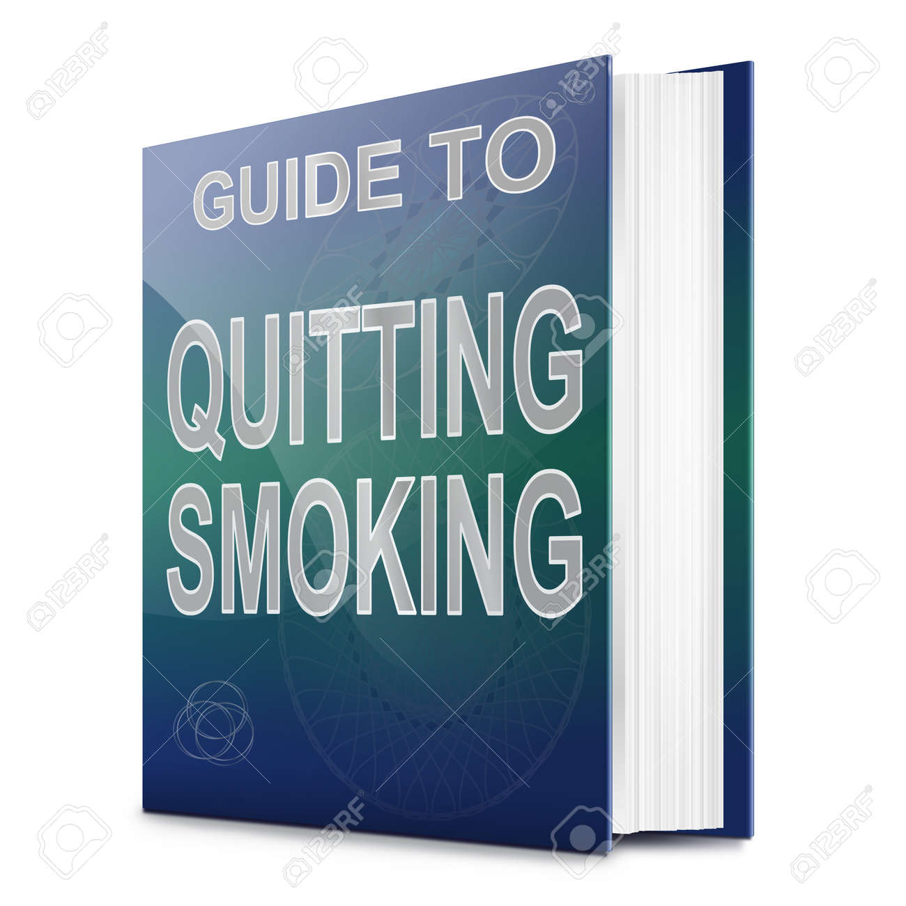 Illustration depicting a book with a quit smoking concept title. White background. Stock Photo - 17223263