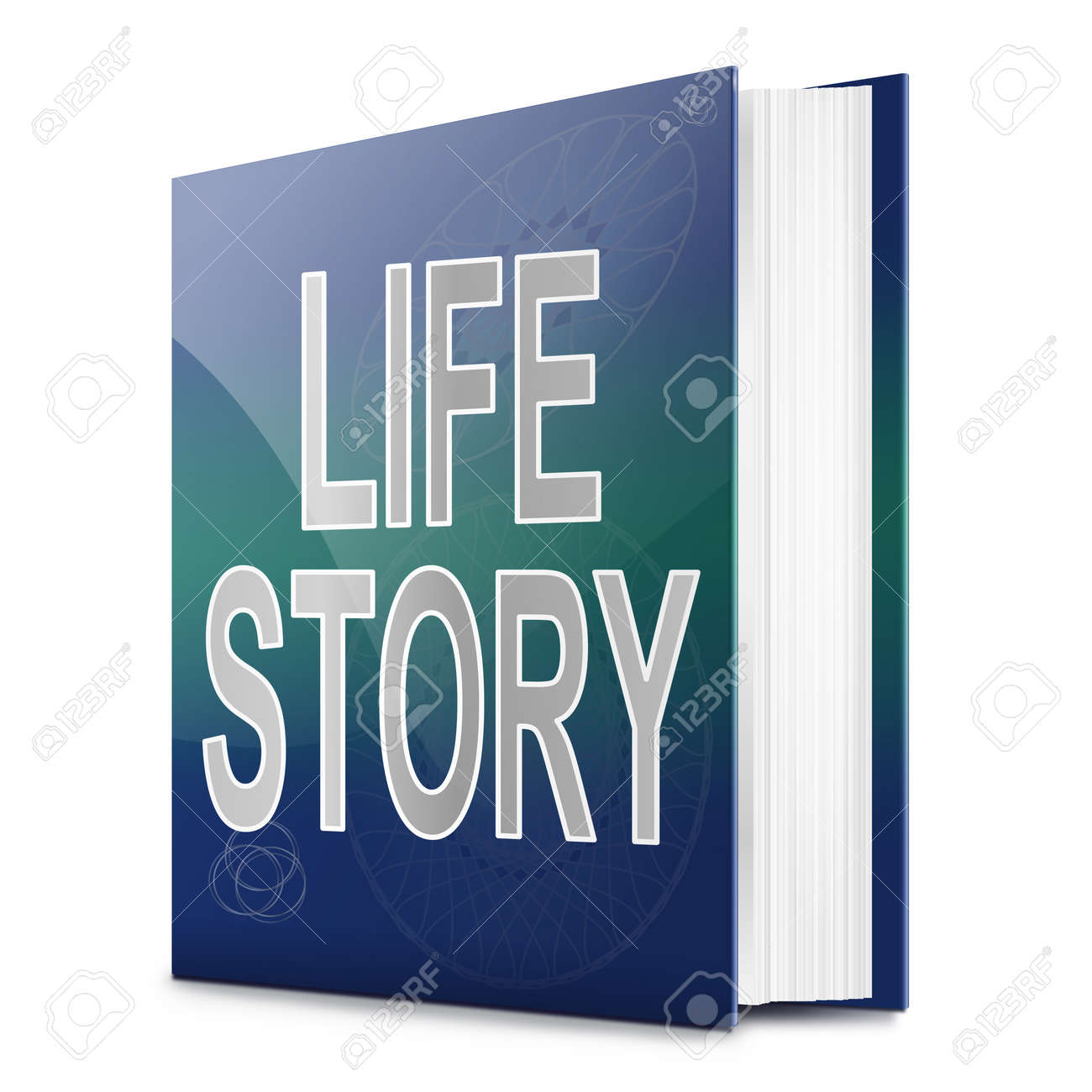 Illustration depicting a book with a life story concept title. White background. Stock Photo - 17461909