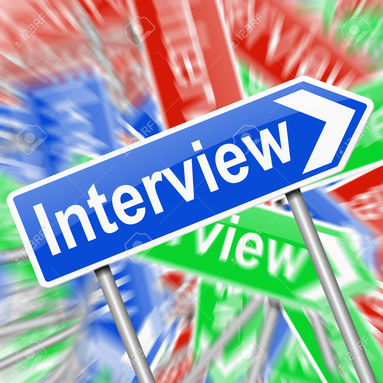 Abstract style illustration depicting a signs with an interview concept. Stock Illustration - 19219260