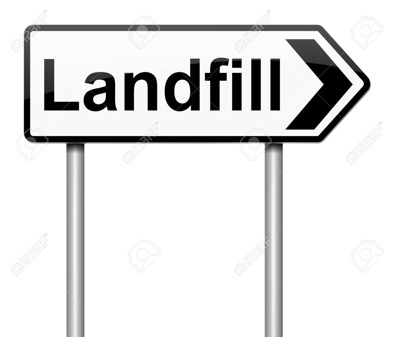 Image result for landfill sign image