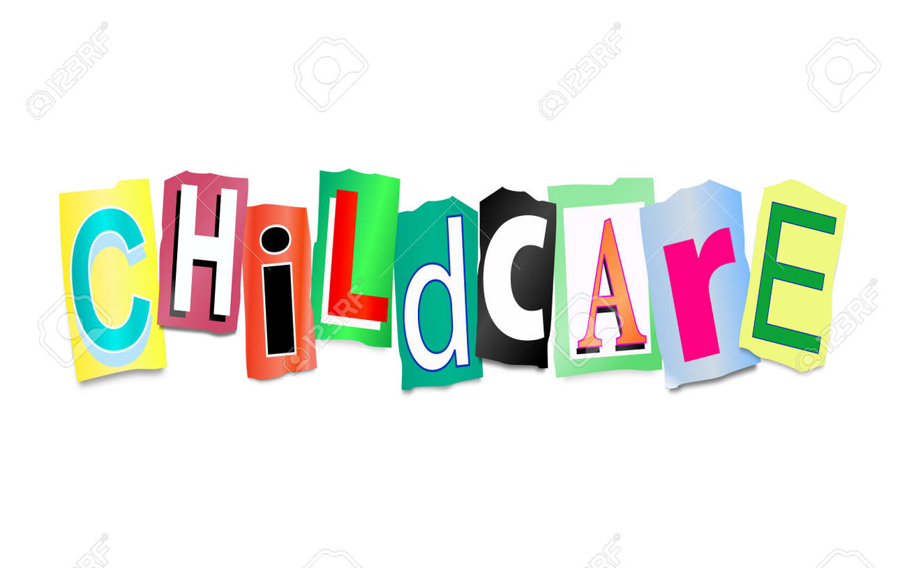 babysitting images stock pictures royalty babysitting babysitting illustration depicting cutout printed letters arranged to form the words childcare stock photo