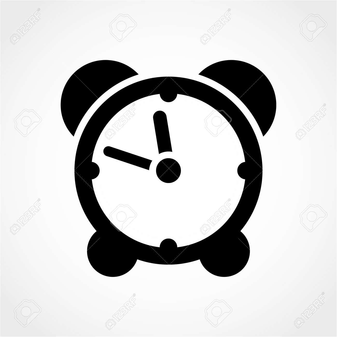 Clock Icon Isolated on White Background - 50991400