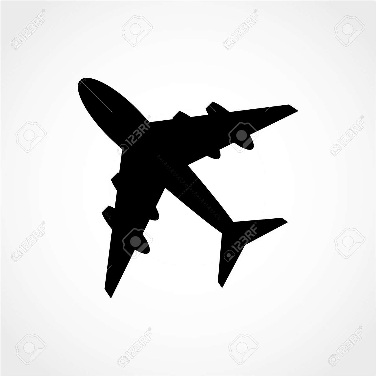 Plane Icon Isolated On White Background Royalty Free Cliparts Vectors And Stock Illustration Image 50994548