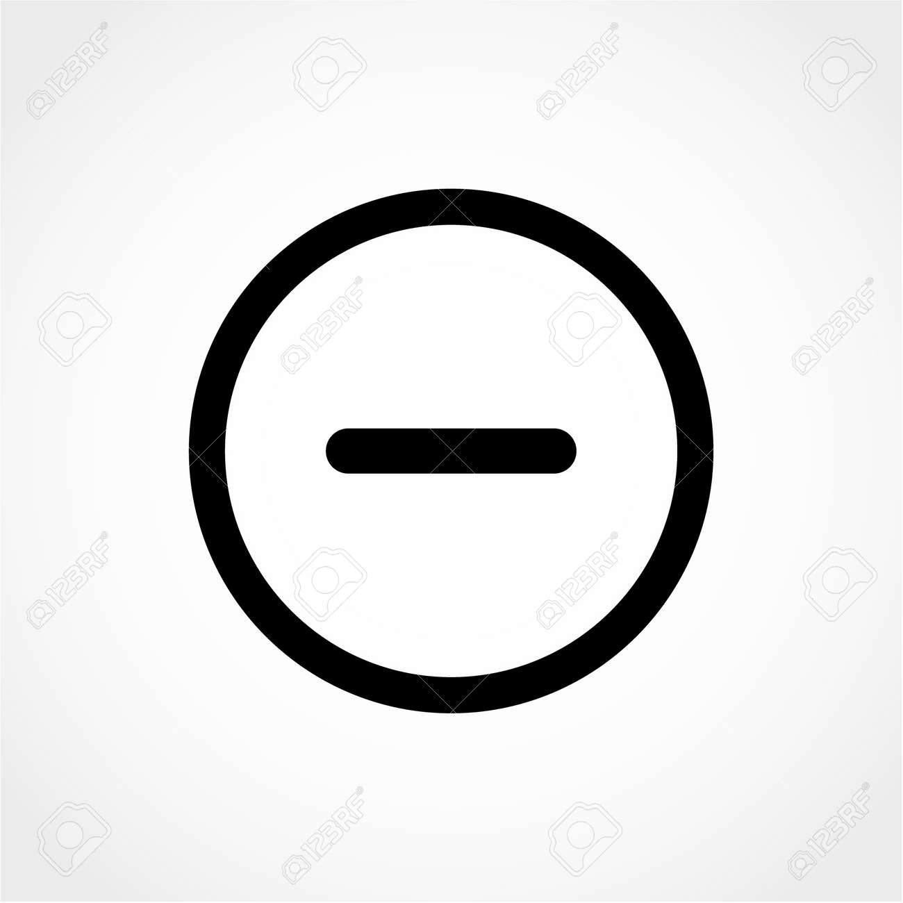 Background image zoom out - Minus Sign Icon Negative Symbol Zoom Out Circles Icon Isolated On White Background