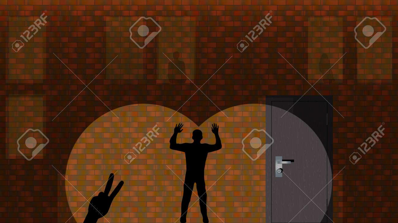 レンガの壁の影 シルエットを変更することができます ベクトルの図 背景 壁紙 実際サイズ 1366 X 768 小さいサイズにもカットすることが可能です 1024 X 768 1280 X 768 など のイラスト素材 ベクタ Image