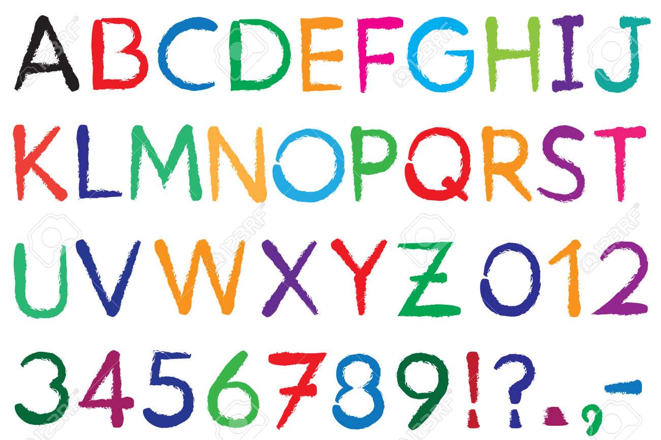 Police De Caractere Alphabet 3 Lettres Az Numbers 0 9 De