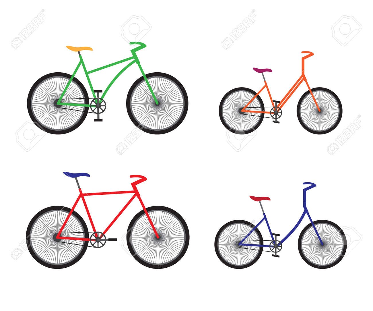Types Of Bicycles >> Different Types Of Bicycles Sport Equipment Royalty Free Cliparts