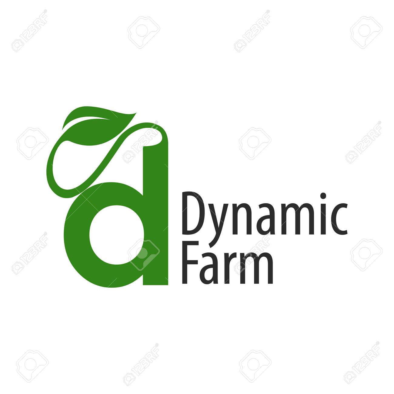 Dynamic farm initial letter d with leaf logo concept design template idea - 143647203