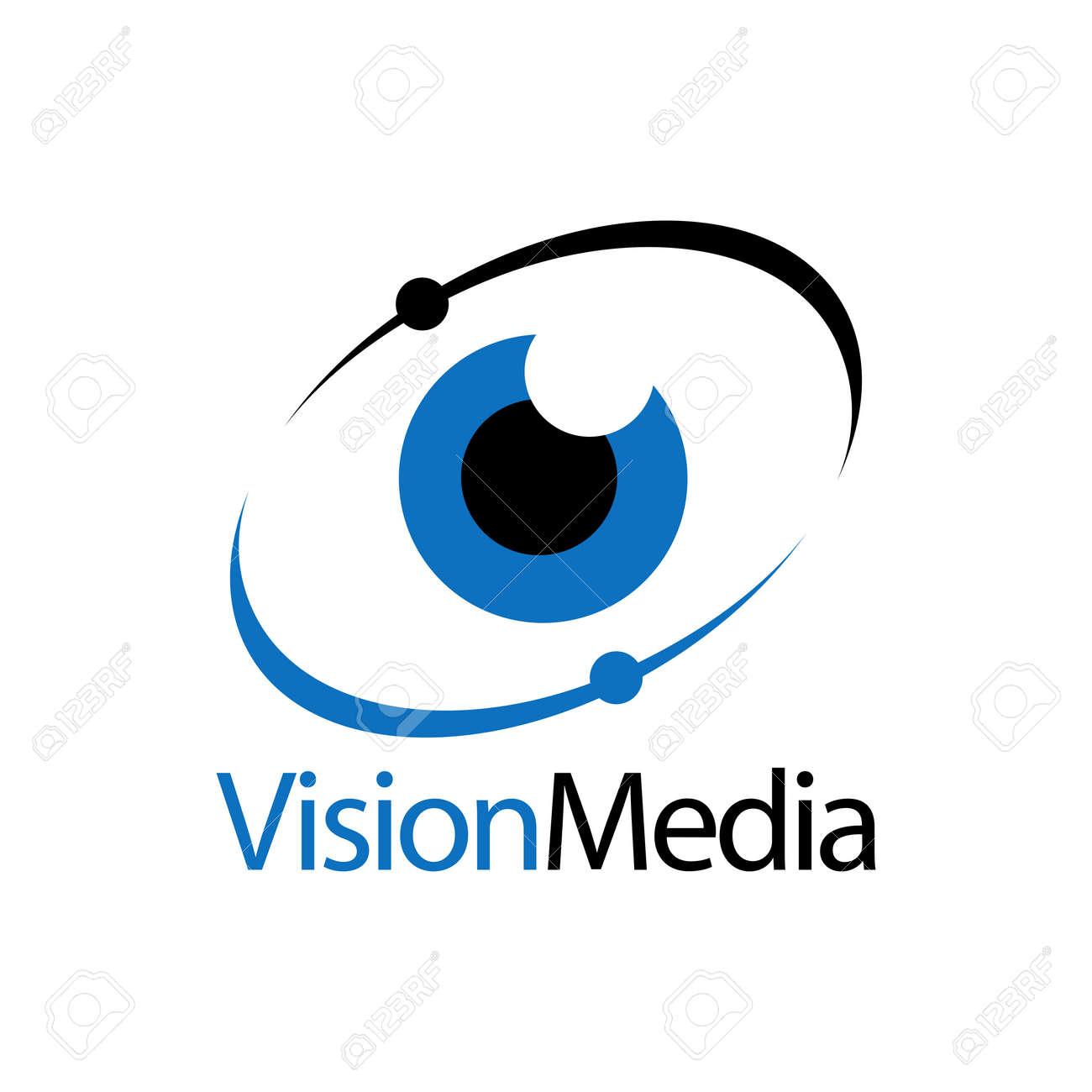 Eye icon vision media logo concept design template idea - 143647292