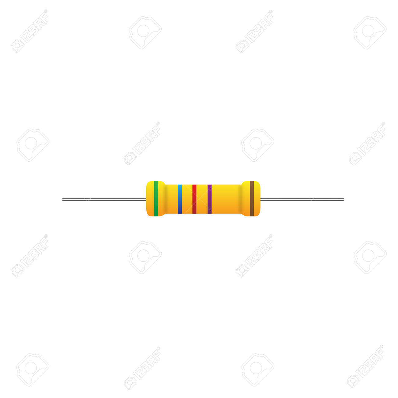 Resistor On A White Background Royalty Free Cliparts, Vectors, And ...