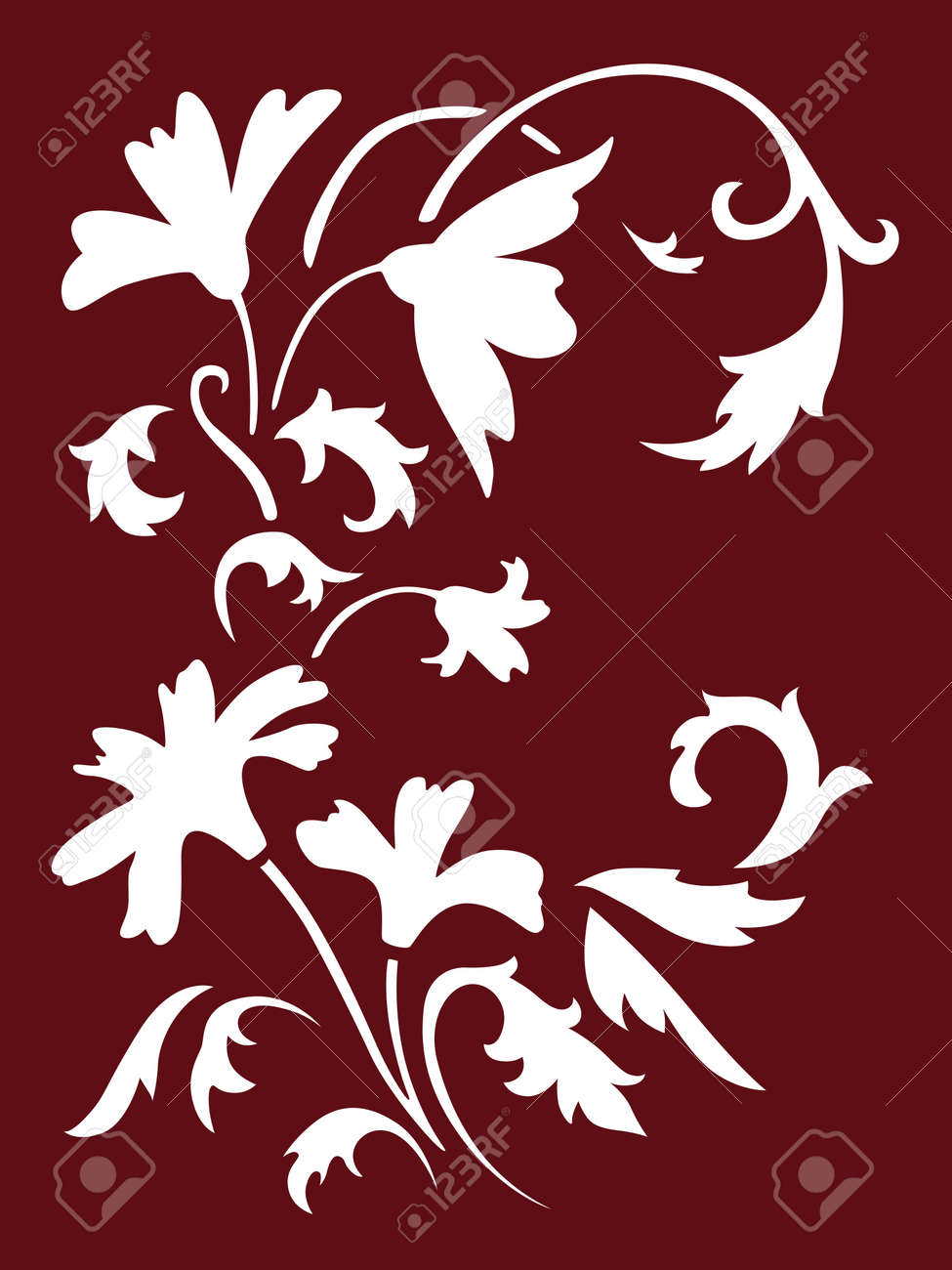 Flowers Spring Stencils Royalty Free Cliparts Vectors And Stock