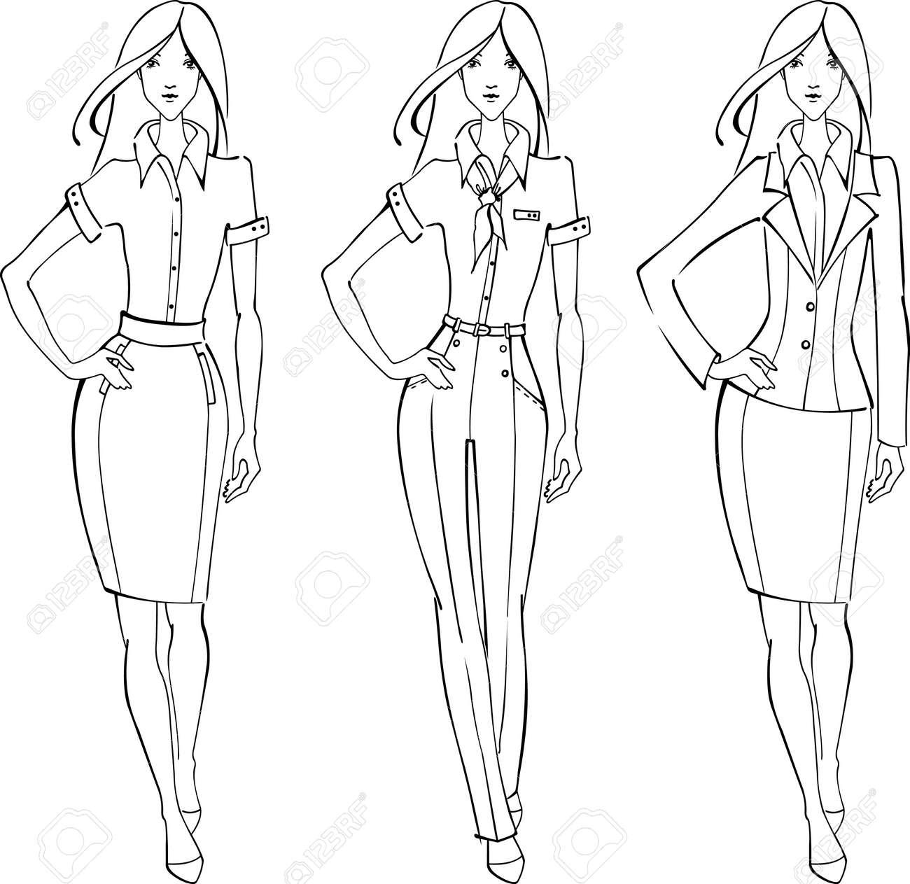 Sketch of businesswoman Stock Vector - 13201370