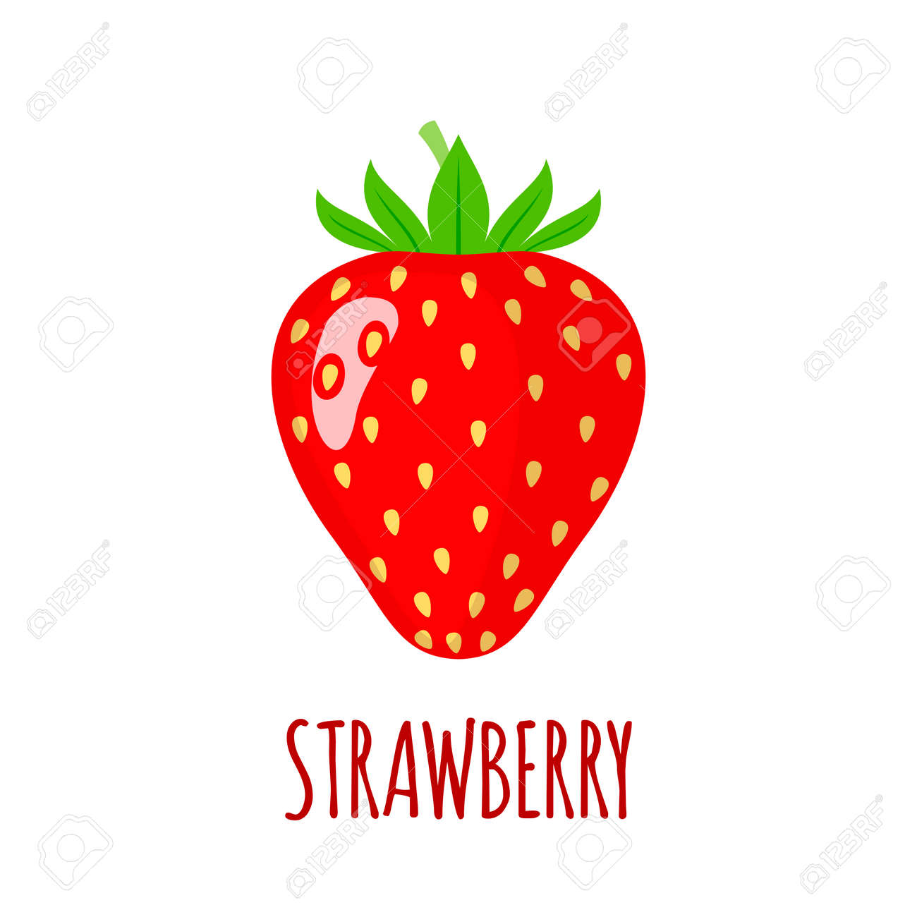 strawberry in flat style strawberry vector logo strawberry rh 123rf com strawberry victoria sponge strawberry vector background