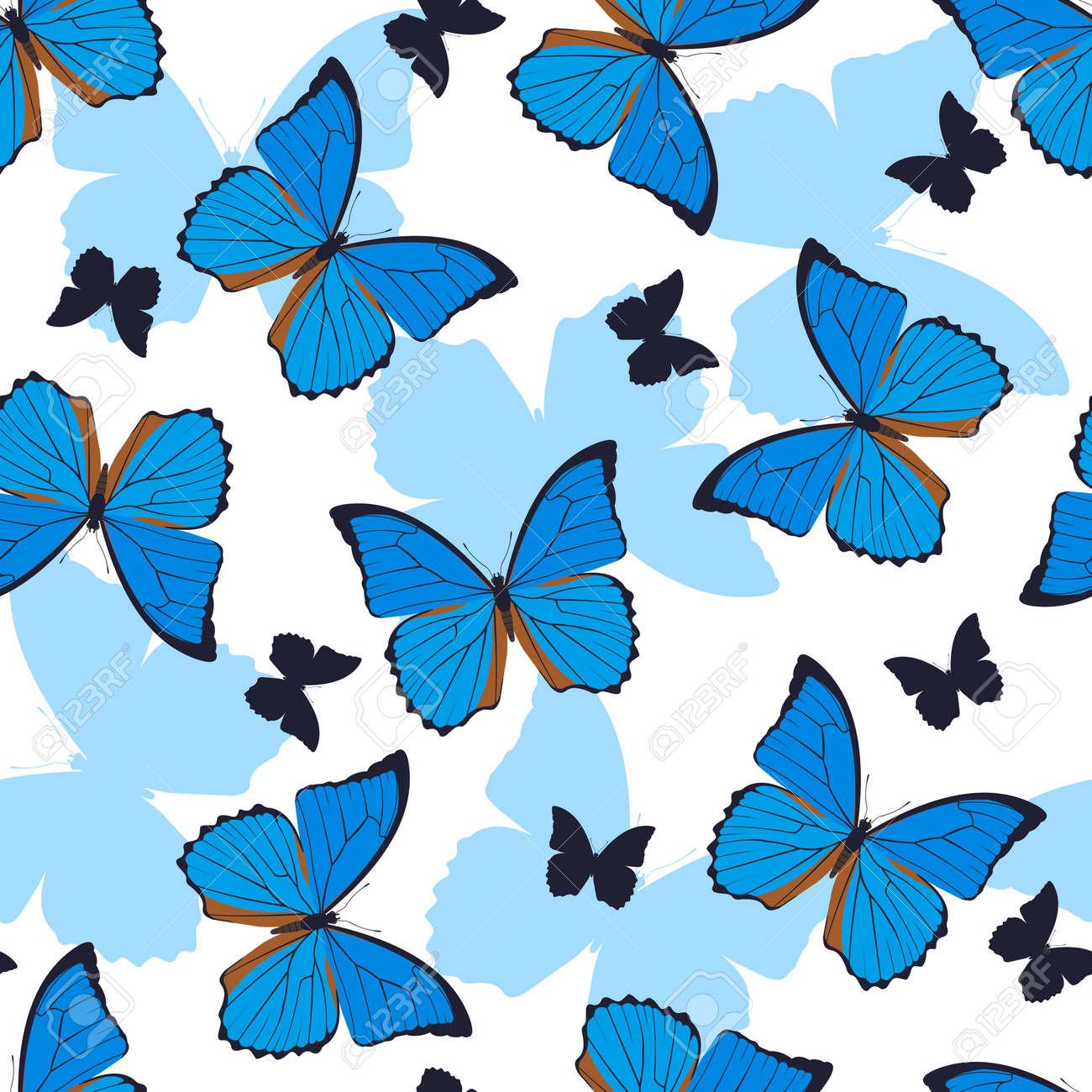 Vettoriale Astratte Farfalle Seamless Su Sfondo Bianco Farfalle