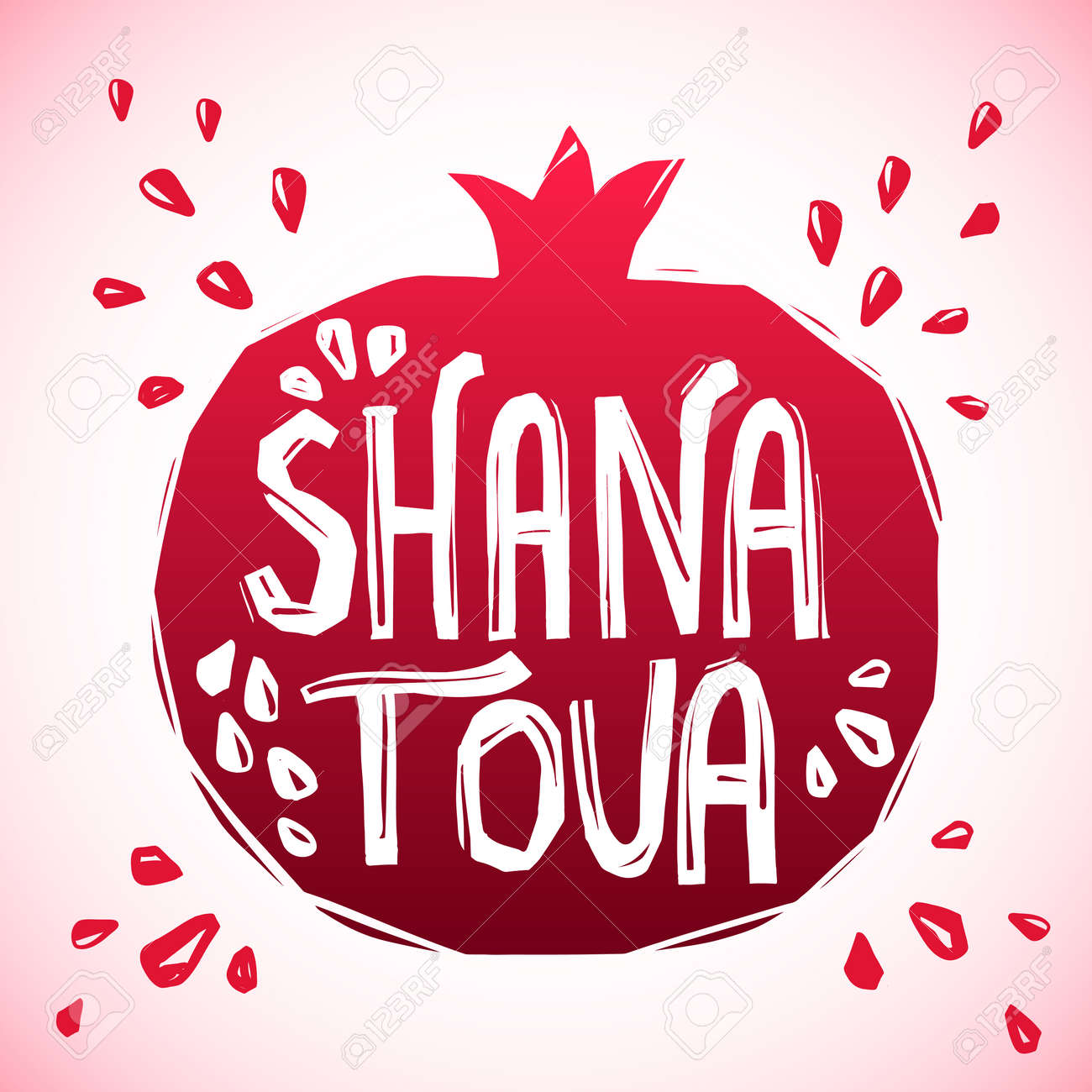 Rosh hashanah greeting card with pomegranate shana tova or jewish rosh hashanah greeting card with pomegranate shana tova or jewish new year symbols stock vector kristyandbryce Choice Image