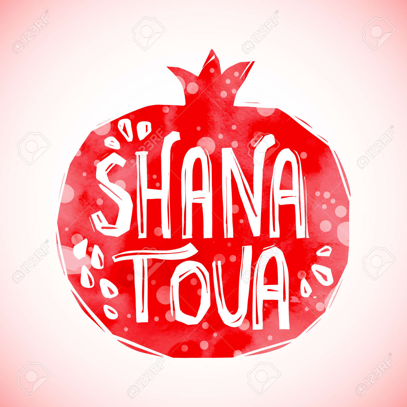 Rosh hashanah greeting card with pomegranate shana tova or jewish rosh hashanah greeting card with pomegranate shana tova or jewish new year symbols stock vector kristyandbryce Images