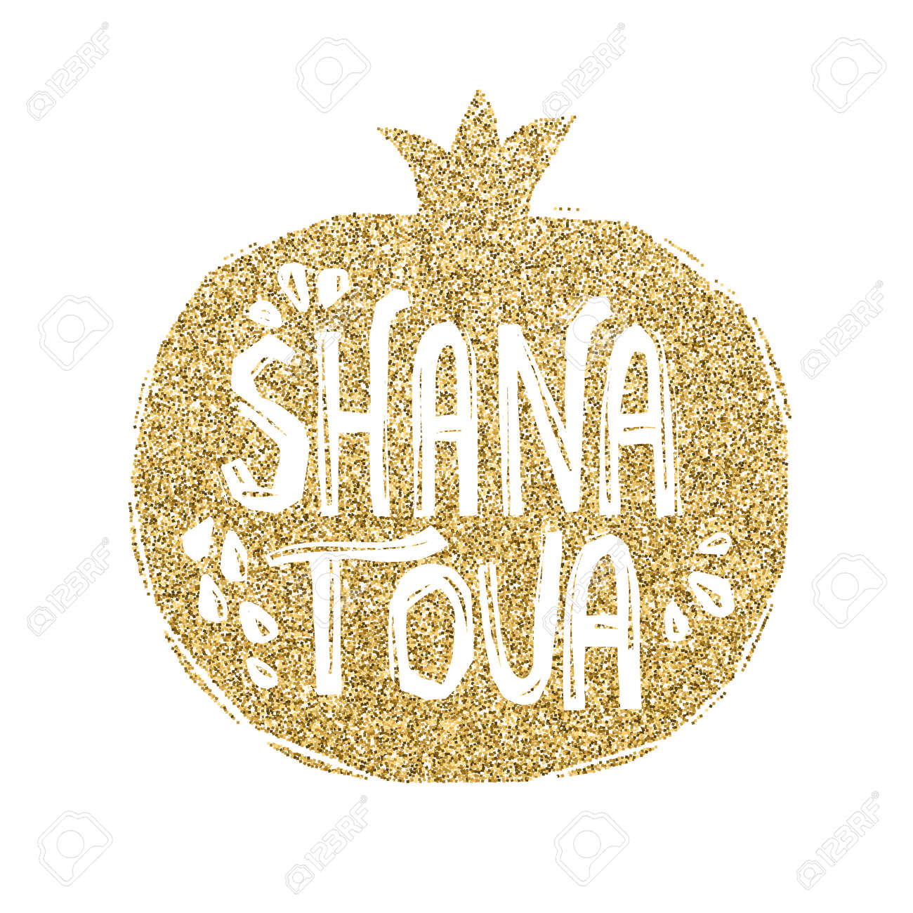 Rosh hashanah greeting card with pomegranate shana tova or jewish rosh hashanah greeting card with pomegranate shana tova or jewish new year symbols stock m4hsunfo