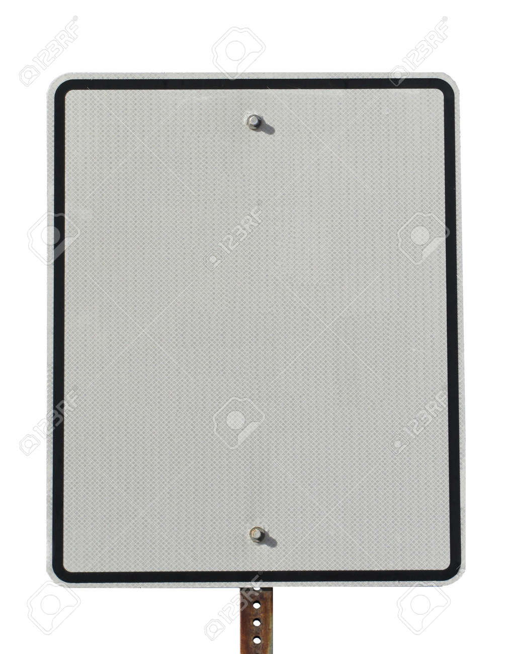 Actual white reflective street sign blank for copy space Stock Photo - 7316348