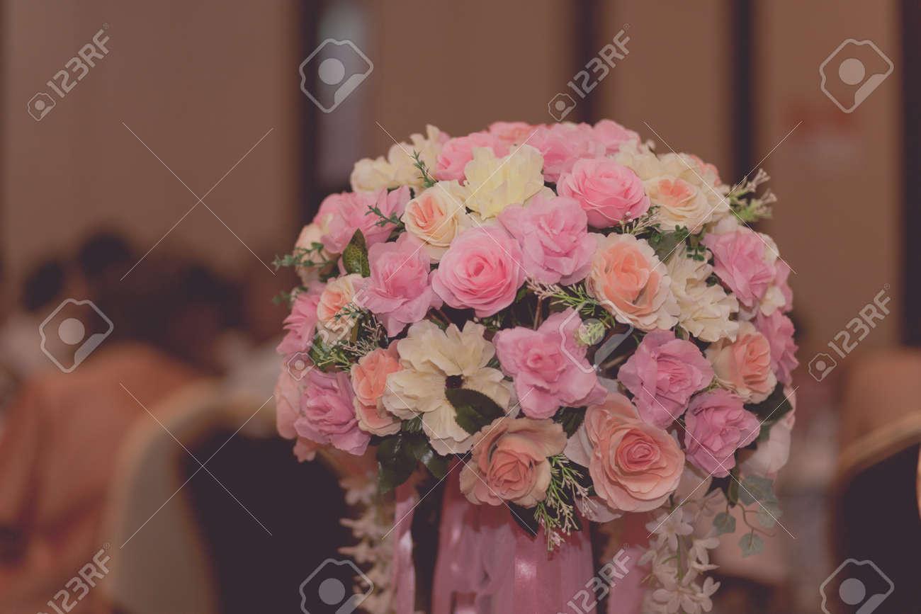 Hochzeitsblumenstrauss Mit Filtereffekt Retro Vintage Style