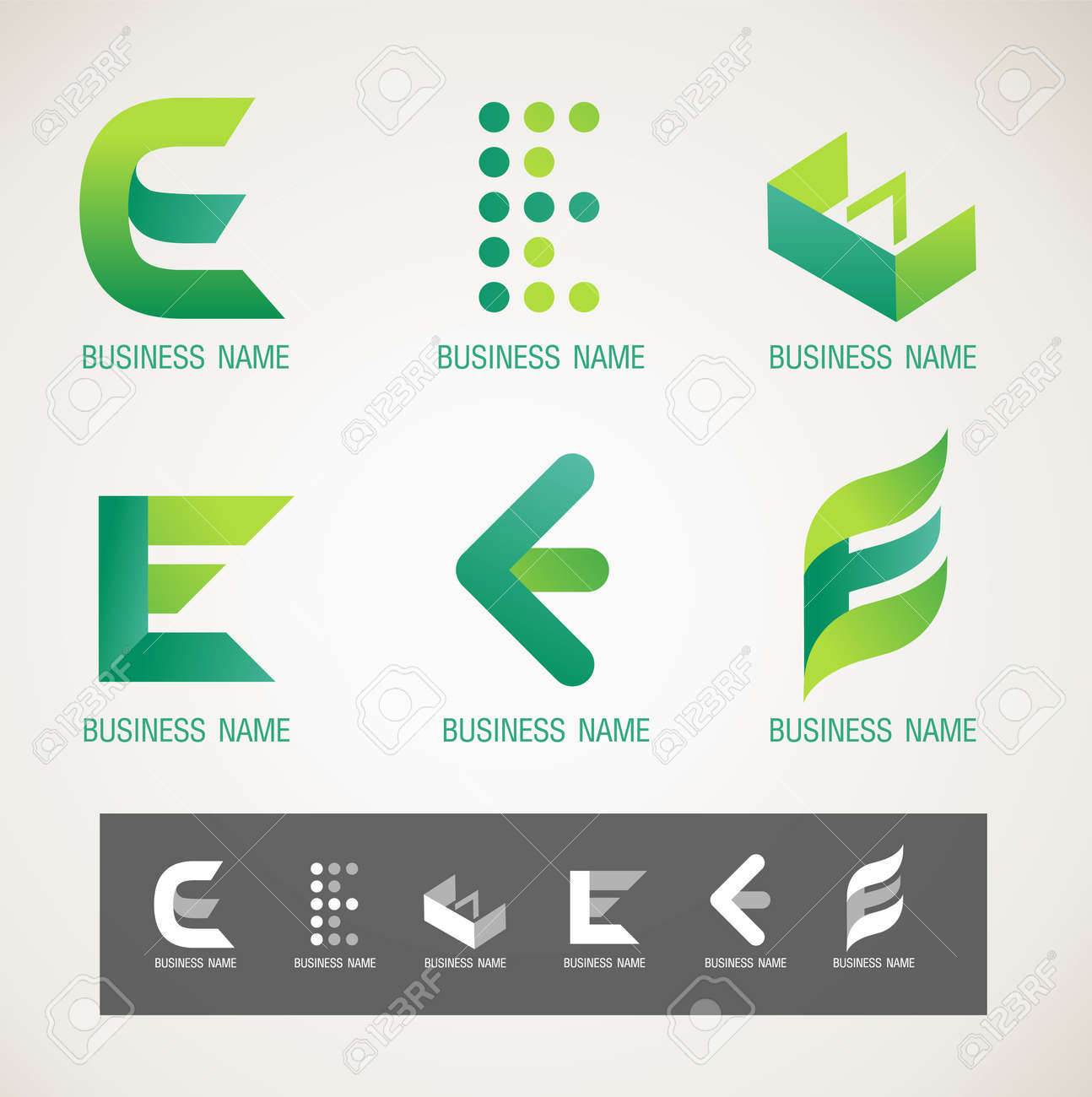 Logo And Symbol Design E Concept Royalty Free Cliparts Vectors And