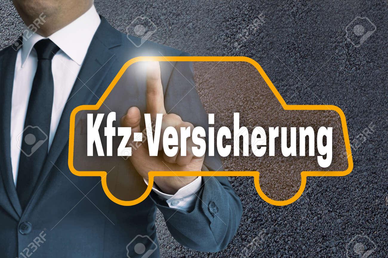 Kfz Versicherung In German Car Insurance Auto Touchscreen Is