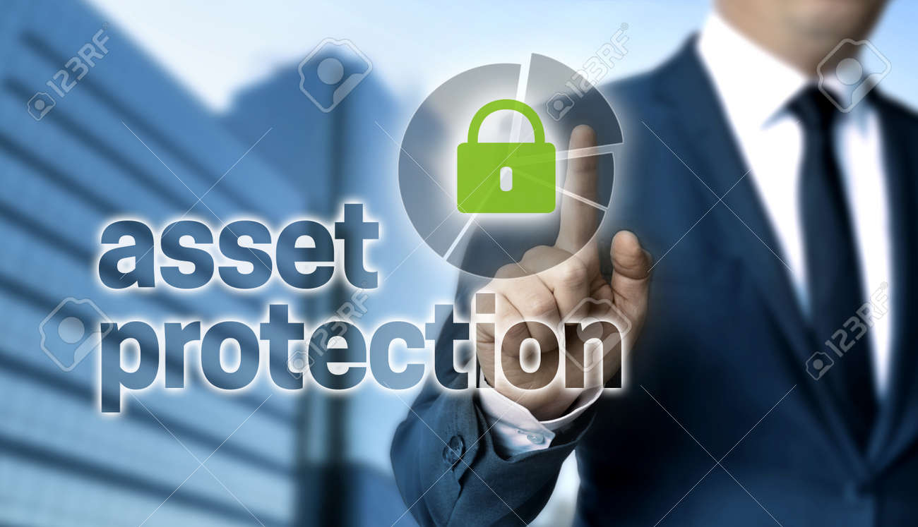 Asset Protection concept is shown by businessman. - 131437666