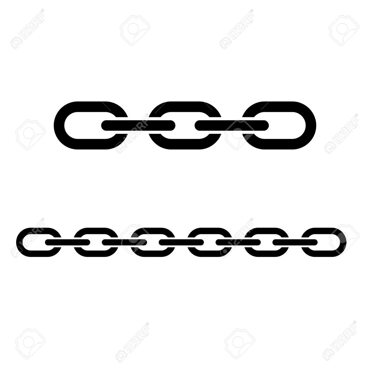 Chain icon  Simple metal chain with secure links  Vector Illustration