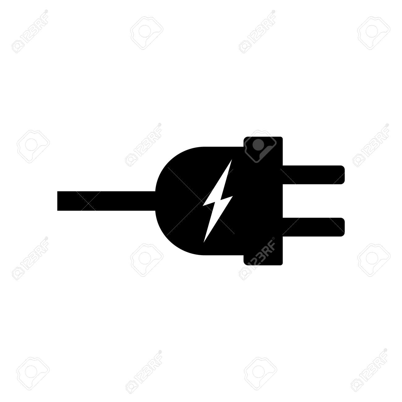 Electric Plug Icon Vector Illustration. Plug With Electric Power ...