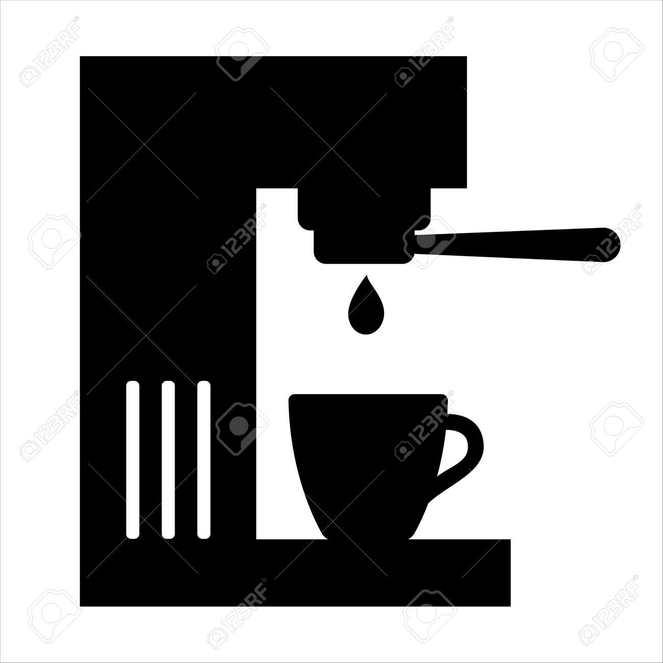 coffee machine icon coffee maker with portafilter and cup vector royalty free cliparts vectors and stock illustration image 143072553 123rf com