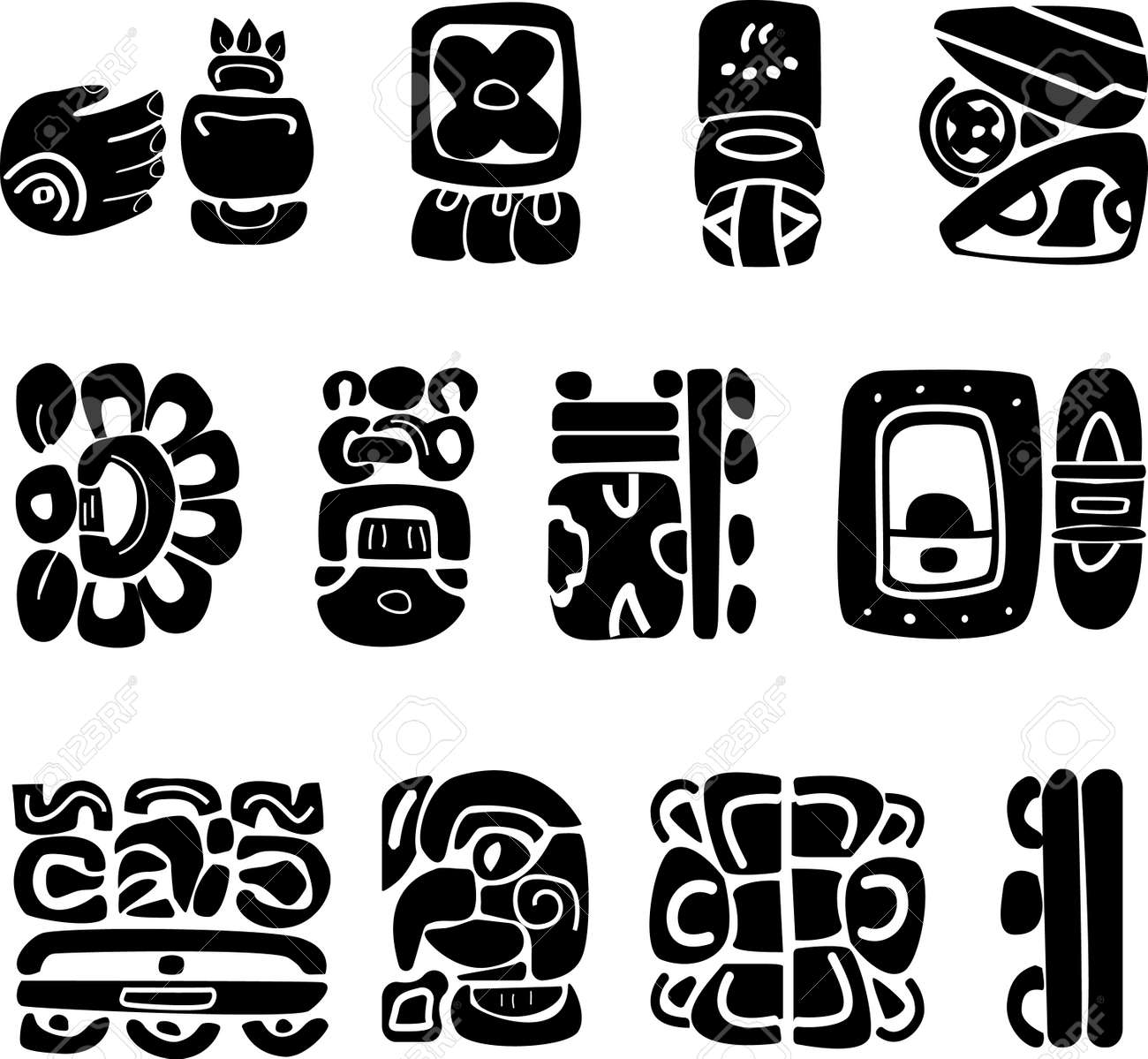 Symbols of the maya ethnic logos of southern america indian symbols of the maya ethnic logos of southern america indian drawings mexico logo stock buycottarizona Image collections
