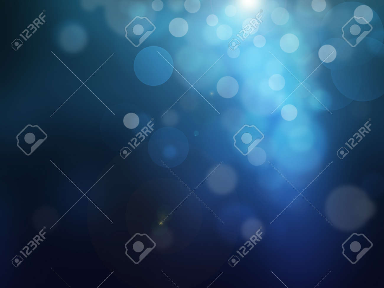 blue bokeh abstract light background Stock Photo - 22149212