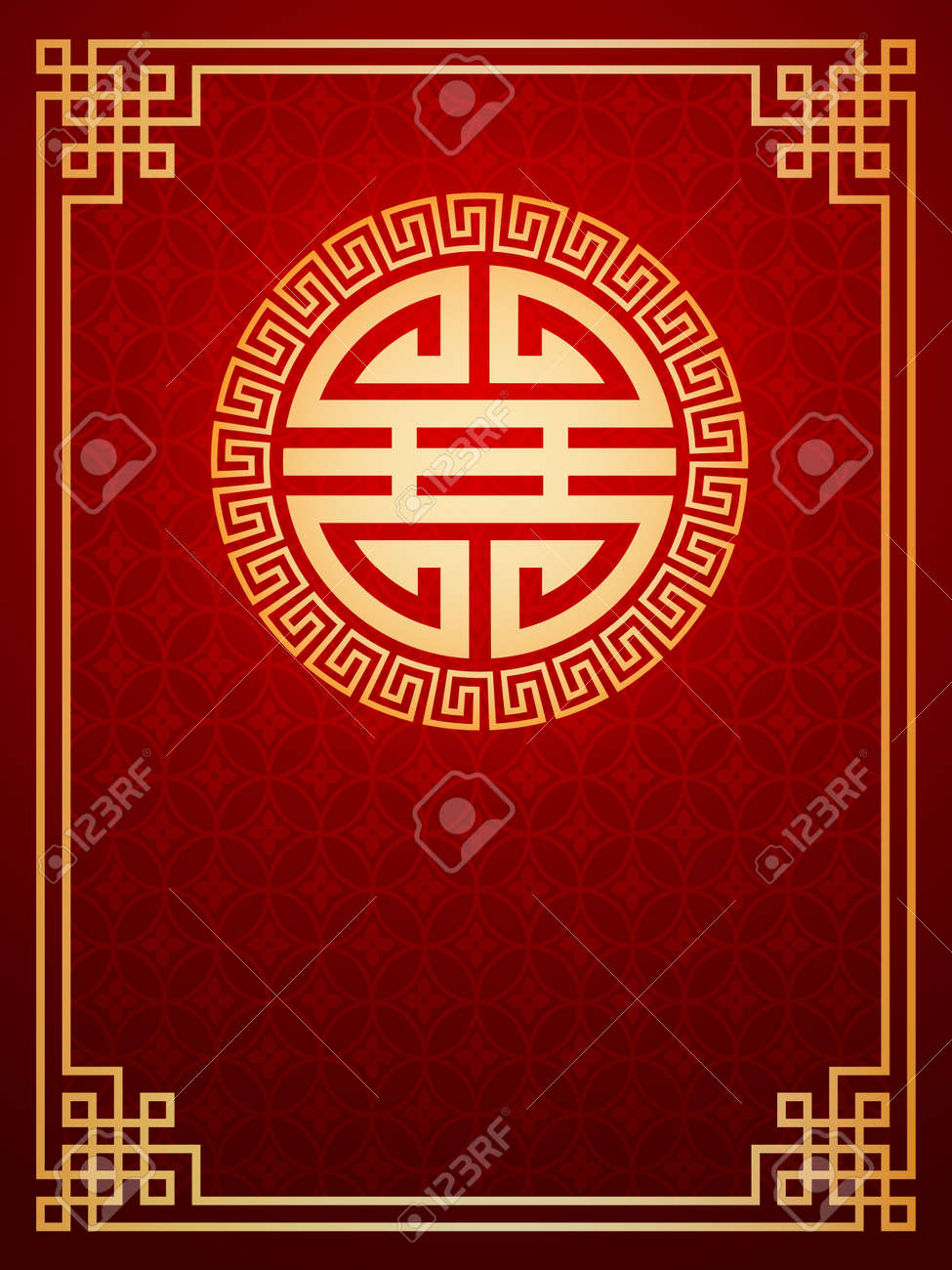 Oriental Chinese Template Composition  cover, invitation, decoration element Stock Vector - 29649519