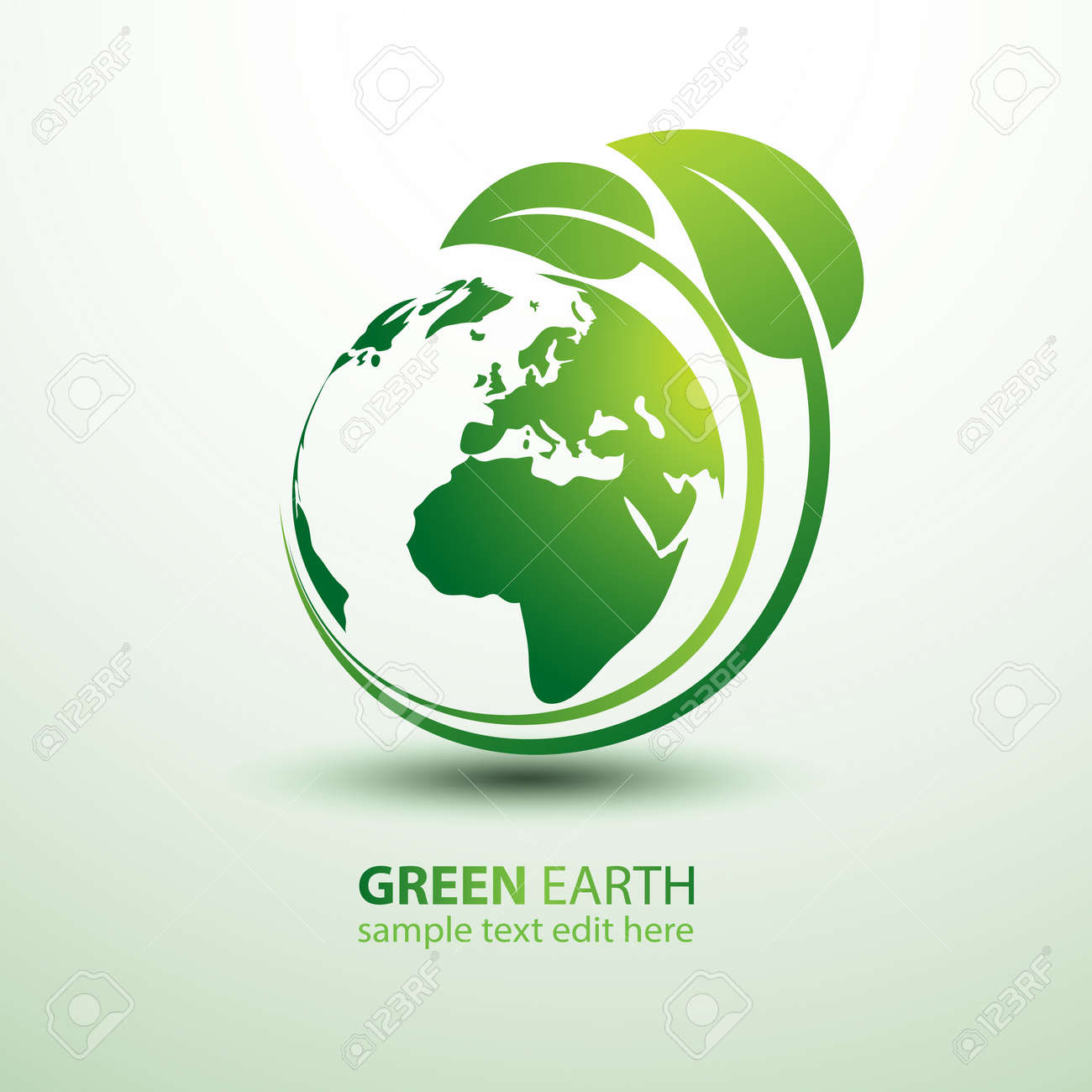 Green earth concept with leaves illustration Stock Vector - 30530501